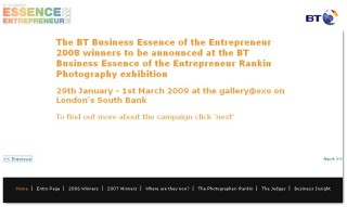 リバーズ・ラン・レッド、「BT Business Essence of the Entrepreneur 2008」に選出